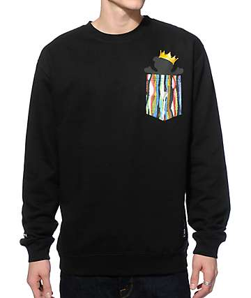 Grizzly Biggie Bear Crew Neck Pocket Sweatshirt