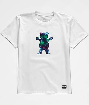 Grizzly Boys OG Bear Tie Dye White T-Shirt