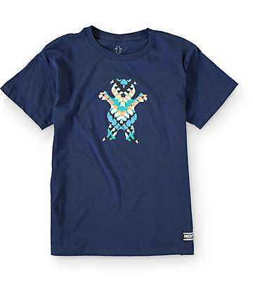 Grizzly Boys Tribe Bear Cubs Navy T-Shirt