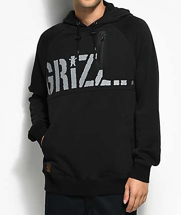 Grizzly Canyon Lands Black Pullover Hoodie