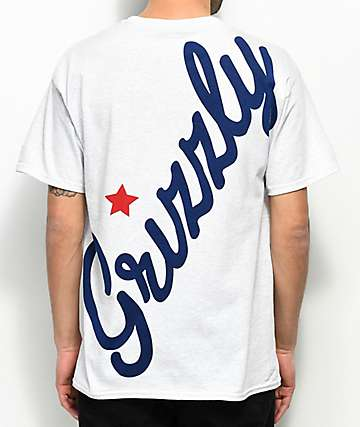 Grizzly Full Court Press Ash Grey T-Shirt