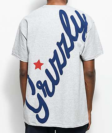 Grizzly Full Court Press Heather Grey T-Shirt