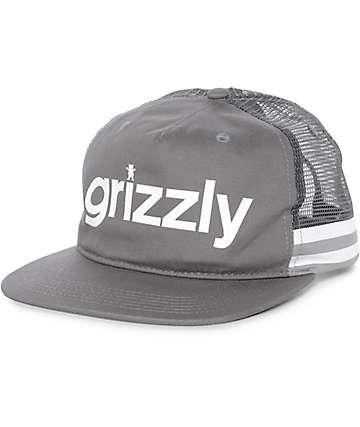 Grizzly Heritage gorra snapback de malla gris