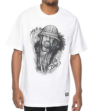 Grizzly Judge Dre White T-Shirt
