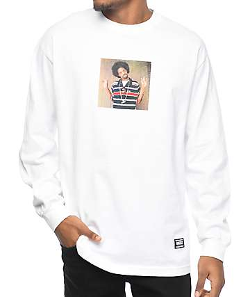 Grizzly M To The D Long Sleeve White T-Shirt