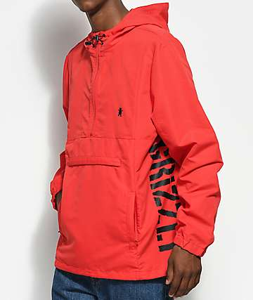 Grizzly Medalist Red Anorak Jacket