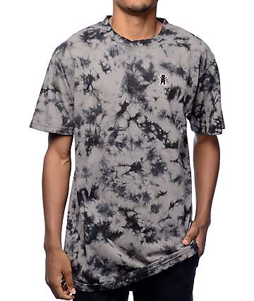 Grizzly Mid-Plains Black Tie Dye T-Shirt