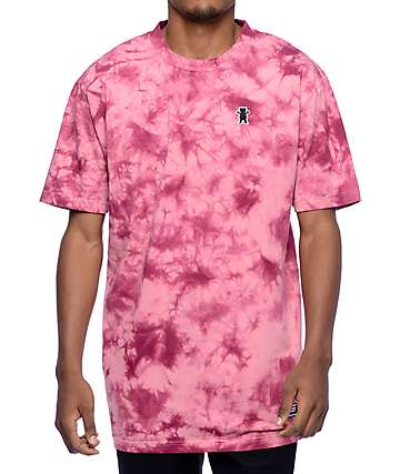 Grizzly Mid-Plains Red Tie Dye T-Shirt