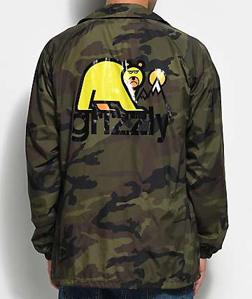 Grizzly Mount Fuji Camo Coaches Jacket