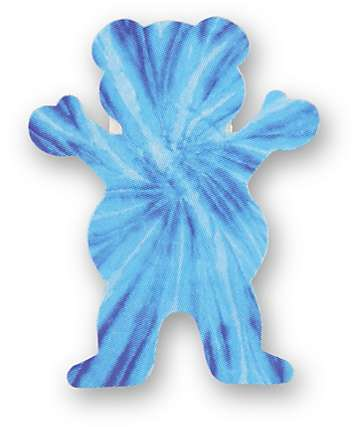 Grizzly Neon Tie Dye Bear Logo Assorted Vinyl Sticker