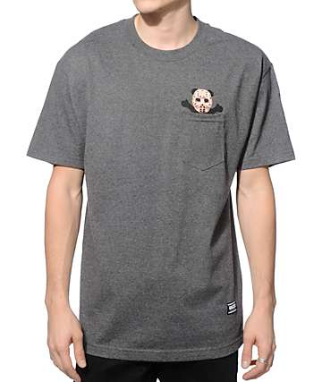 Grizzly Nightmare Bear Pocket T-Shirt
