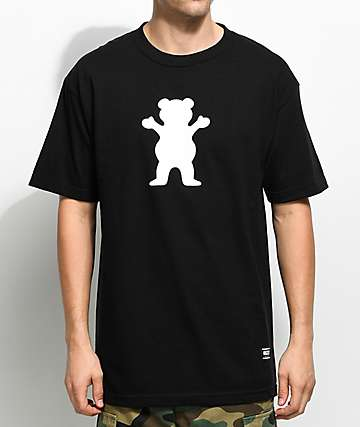 Grizzly OG Bear Logo camiseta negra