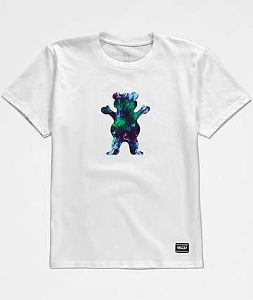 Grizzly OG Bear camiseta blanca con efecto tie dye para niños