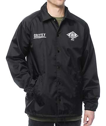 Grizzly Pyramid Black Coaches Jacket