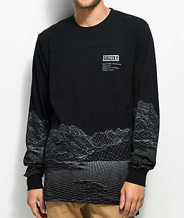 Grizzly Range Black Long Sleeve T-Shirt