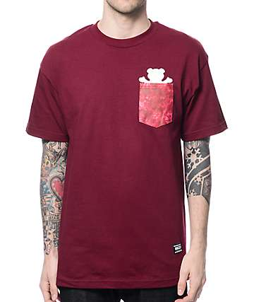 Grizzly Shatter OG Bear Maroon Pocket T-Shirt