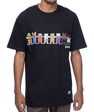 Grizzly Squad Goals Black T-Shirt