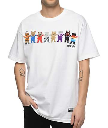 Grizzly Squad Goals White T-Shirt