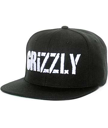 Grizzly Stamp Black Snapback Hat