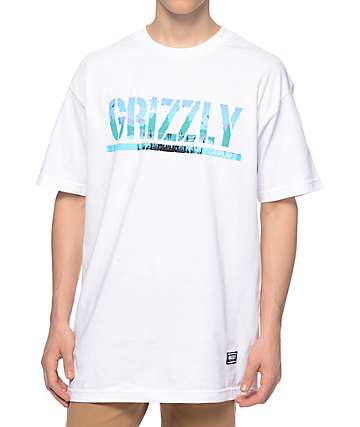 Grizzly Swamp Stamp White T-Shirt