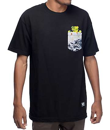 Grizzly Team Burrito Black Pocket T-Shirt