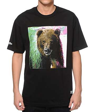 Grizzly Tie Dye Fur T-Shirt