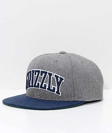 Grizzly Top Team Grey Snapback Hat