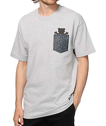 Grizzly Trippy Trail Pocket T-Shirt