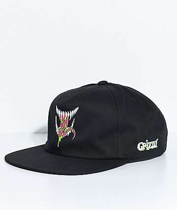 Grizzly Venom Black Snapback Hat
