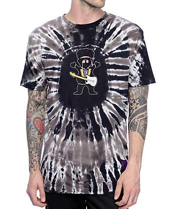 Grizzly X Hendrix Jimi Bear Black Tie Dye T-Shirt