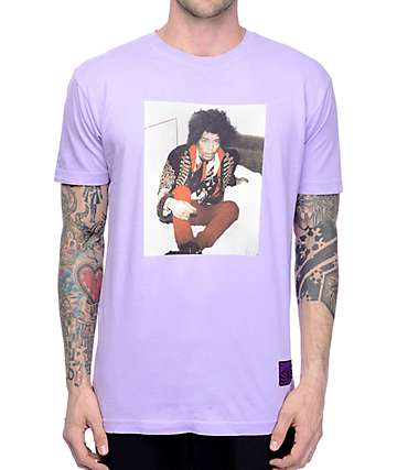 Grizzly X Hendrix Stoned Free Purple T-Shirt