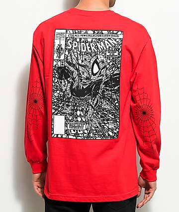 Grizzly X Marvels Spider-Man Red Long Sleeve T-Shirt
