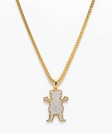 "Grizzly X The Gold Gods OG Ice 26"" Gold Chain Necklace"