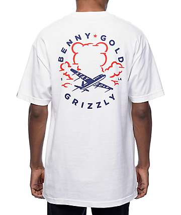 Grizzly x Benny Gold Stay Grizzly White T-Shirt