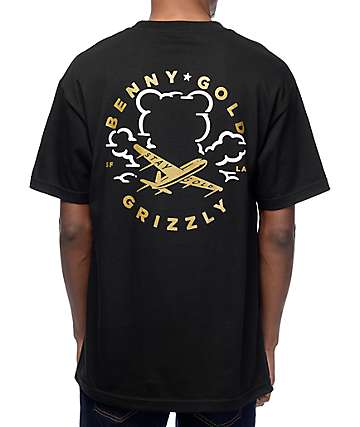 Grizzly x Benny Gold Stay Grizzly camiseta negra