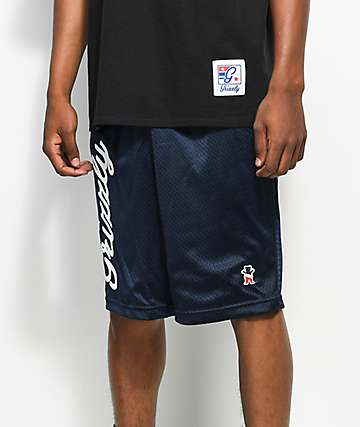 Grizzly x Champion Behind The Arc Mesh Navy Shorts