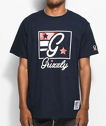 Grizzly x Champion Hardwood Classics Navy T-Shirt