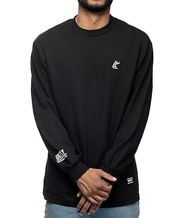 Grizzly x EVERYBODYSKATES Black Long Sleeve T-Shirt
