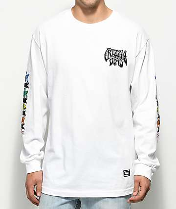 Grizzly x Grateful Dead Paradigm White Long Sleeve T-Shirt