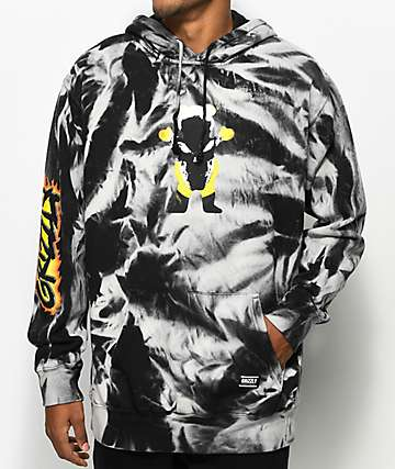 Grizzly x Marvel Ghost Rider Tie Dye Hoodie