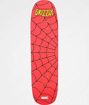 "Grizzly x Marvel Spiderman 8.0"" Cruiser Skateboard Deck"