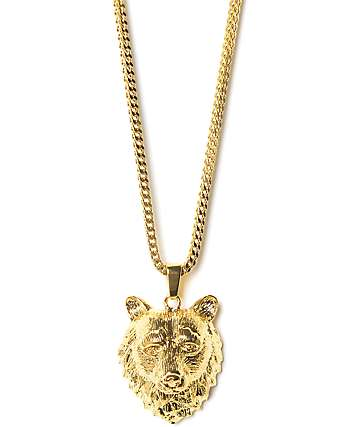 Grizzly x The Gold Gods Bear Gold Necklace