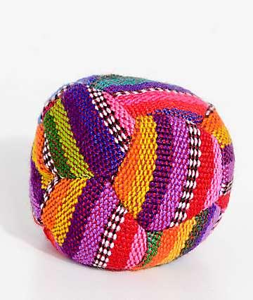 Guatemalart Bright Blanket Hacky Sack