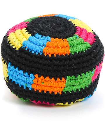 Guatemalart Neon Loops Hacky Sack