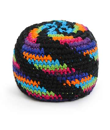 Guatemalart Neon Spiral Hacky Sack