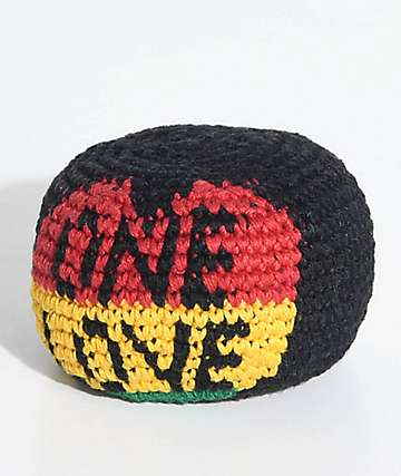 Guatemalart One Love Black, Yellow, Red & Green Hacky Sack