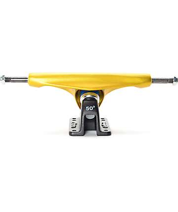 "Gullwing Charger 9"" ejes de skate en negro y oro"
