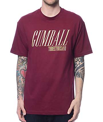 Gumball 3000 Caddy Burgundy T-Shirt