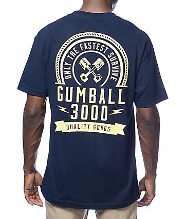Gumball 3000 Live Fast Navy T-Shirt
