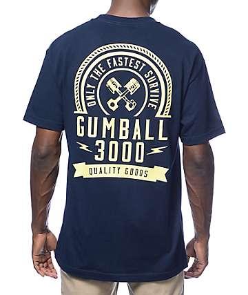 Gumball 3000 Live Fast Navy T-Shirt